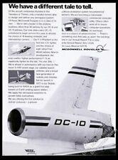 1971 McDonnell Douglas DC-10 plane tail engine photo vintage print ad
