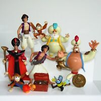 USED Disney Aladdin Action Figure Bundle Mattel 1993   Genie Jafar Sultan Lamp