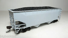Atlas Trainman UNDECORATED 2-Bay Offset (Flat End) Hopper Cars  R-T-R  NIB