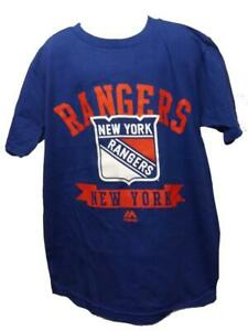 New York Rangers Youth Sizes S-L-XL Majestic Blue Shirt