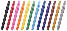 Pentel JAPAN SES15C-12 Pentel Fude Touch brush Sign Pen #12 colors SET