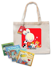 NEW The Things I Love 4 Books Tote Set by Trace Moroney Kids Positive Attitude!
