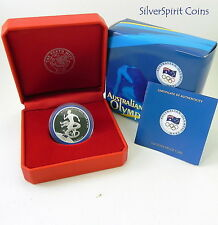 2008 $1 BEIJING AUSTRALIAN OLYMPIC TEAM Silver Proof Coin