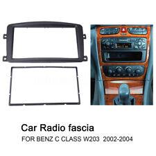2 DIN Radio DVD fascia Trim Panel Dash Mounting for Benz C Class W203 2002- 04