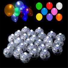 50Pcs Mini LED Ball Lamp Balloon Light For Lantern Wedding Party Fairy Decor M&F