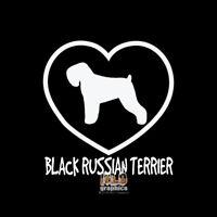 BLACK RUSSIAN TERRIER I LOVE MY Vinyl Sticker Decal AKC Registered DOG GROOMER