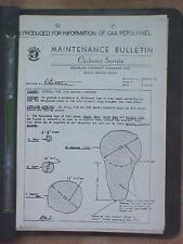 1944-1946 Douglas C-54 Maintenance / Service Bulletins aviation binder