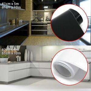 White Black Vinyl Self Adhesive Wallpaper Roll Kitchen Contact Paper Vinyl Film