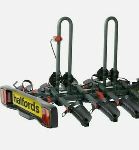 Halfords Advance 4 Bike Tow Bar Mount Cycle Car Rack Foldable Lockable New