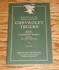 1933 Chevrolet Truck Eagle Series CB & O Owners Operators Manual 33 Chevy