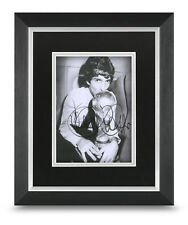 Paolo Rossi Signed 10x8 Framed Photo Display Italy Memorabilia COA