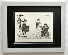 PABLO PICASSO ORIGINAL 1969 SIGNED NUMBERED ENGRAVING MATTED 11 X 14 + LIST $895
