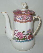 Minton B488 Pink Blue Flowers Scalloped Small-Individual Coffeepot