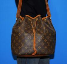 Vtg LOUIS VUITTON PETIT NOE Medium Drawstring Monogram Purse Handbag FRANCE