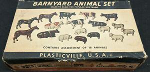 Plasticville No. BY-4 Barnyard Animal Set, vintage 027 o gauge. boxed.