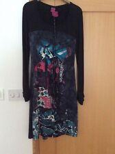 Femme SAVE THE QUEEN Robe-Noir/Multicolore Taille S Neuf. Ceinture Attachée.