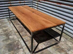 Industrial Reclaimed Hardwood Coffee Table ( Oak )