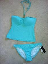FLIRTY RALPH LAUREN AQUA SKY TANKINI SWIMSUIT SIZE LARGE