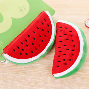 Girls Mini Watermelon Pencil Case Stationery School Office Supplies Makeup Bags
