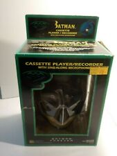N Batman Forever Cowl Head Cassette Player Recorder w/Sing Along Microphone MIB