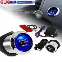 Car Vehicle Engine Start Press Button Push Switch Ignition Starter Blue Light UK