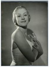Madeleine Lafon, première danseuse de l'Opéra de Paris Vintage silver print