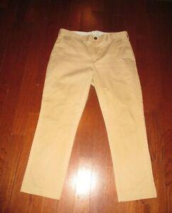 PETER MANNING mens SZ 36 x 29 tan flat front pants