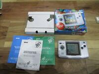 NeoGeo Pocket Color Console Platinum Silver Complete SNK USA ver w114