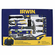 Irwin 14-piece Mixed Tool Set with Storage Bag, for Most Household Needs, Cws