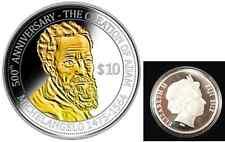 RARE 2012 Fiji  1 OZ Silver Guilt $10-Michelangelo-mintage 500