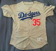 Cody Bellinger #35 Los Angeles Dodgers Men's Majestic Gray Away Game Jersey