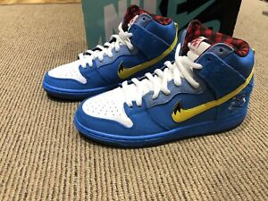 "Nike Dunk SB High Premium ""Familia Blue Ox"" 313171-471 Size 8 US"