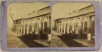 Italia Pompei Set c1865 Foto Jean Andrieu Stereo Vintage Albumina