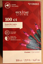 100  COUNT PURPLE CHRISTMAS / WEDDING / EASTER LIGHTS  on Green Wire