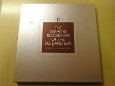 "4 X LP BOX 12"" / THE GREATEST RECORDINGS OF THE BIG BAND ERA - VOL. 77- 80"