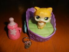 Littlest Pet Shop Magnetic Motion Feeding Cat Bed Bottle PERSIAN LONGHAIR