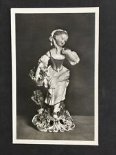 Vintage Postcard: #114: Porcelain Girl Autumn: Fitzwilliam Museum Cambridge
