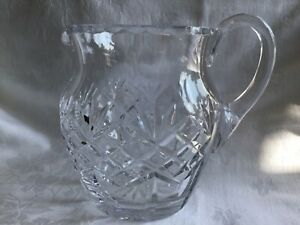 A Quality Crystal Water/Juice/Milk/Cream Jug in excellent condition