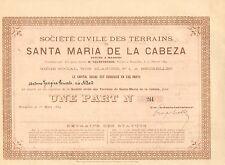 RARO, Terrains de Santa Maria de la Cabeza Situes a Madrid, 1884 (Emision 536)