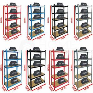 5-Tier Shelf Shelving Unit Heavy Duty Racking Boltless Industrial Shelves Garage