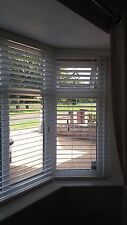 White Wooden Venetian Blinds for Bay Window Brand New (wrong size ordered)
