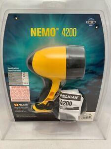 Pelican Yellow Nemo 4200 Xenon Beam Submersible Waterproof Diving Flashlight