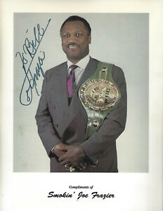 Smokin Joe Frazier Autographed 8.5x11 Photo COA