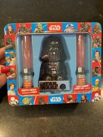 Star Wars Metal Tin Darth Vader w Lightsaber Candy Pop RARE Gift Set Sound Light