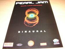 PEARL JAM - BINAURAL!!!!!!!!!!!!!!!!!PUBLICITE / ADVERT