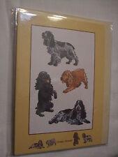 CARTE + ENVELOPPE - chien   COCKER ANGLAIS