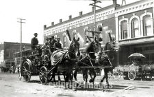 1912 OREGON Salem Photo - Downtown Parade - Fire Wagon