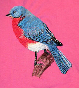 Embroidered Short-Sleeved T-Shirt - Bluebird BT2824
