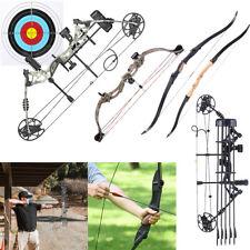 30-70lbs Compound Bow Steel Ball Dual-use Archery Arrow Hunting Fishing RH LH