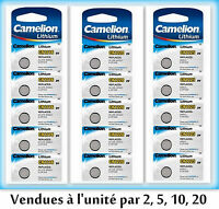 Piles/Cells button lithium Camelion CR2032/2025/2016/1220/1225/1616/1620/2430